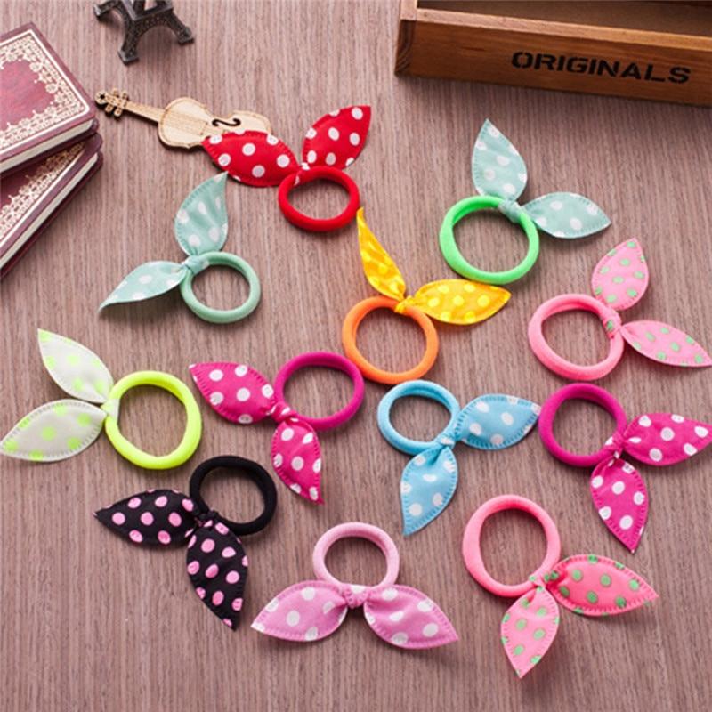 New Arrival Children's Hair Ring Korean Style Bow Hair Ring Rabbit Ears Hair Band Rope Hair Accessories