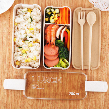 750ml Healthy Material 2 Layer Lunch Box 1