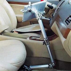 Image 4 - Tablet מחזיק מהדק שולחן מתקפל תכליתי רכב Stand אלומיניום 360 סיבוב קיר הר מיטת סוגר עבור iPad אוויר מיני 7 11