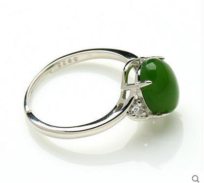 Und Tian Biyu RING 925 silber inlay spinat grüne jasper eiernudeln Mens Echtes Silber Ring Ring Versenkbare-in Ringe aus Schmuck und Accessoires bei  Gruppe 3