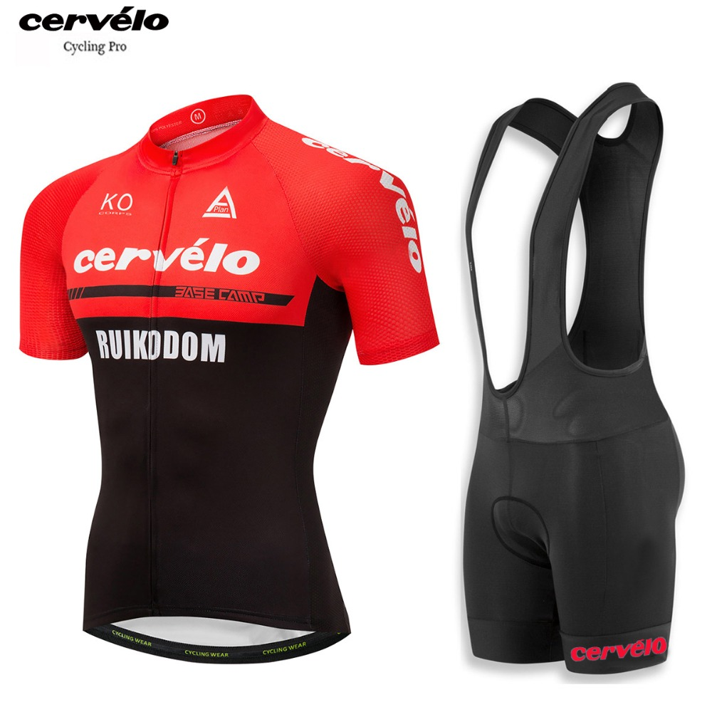 2018 Mens Cycling Jersey Set Short Sleeve Ropa Ciclismo Breathable MTB Team Bike Clothes Anti-UV Cycling Clothing Suit