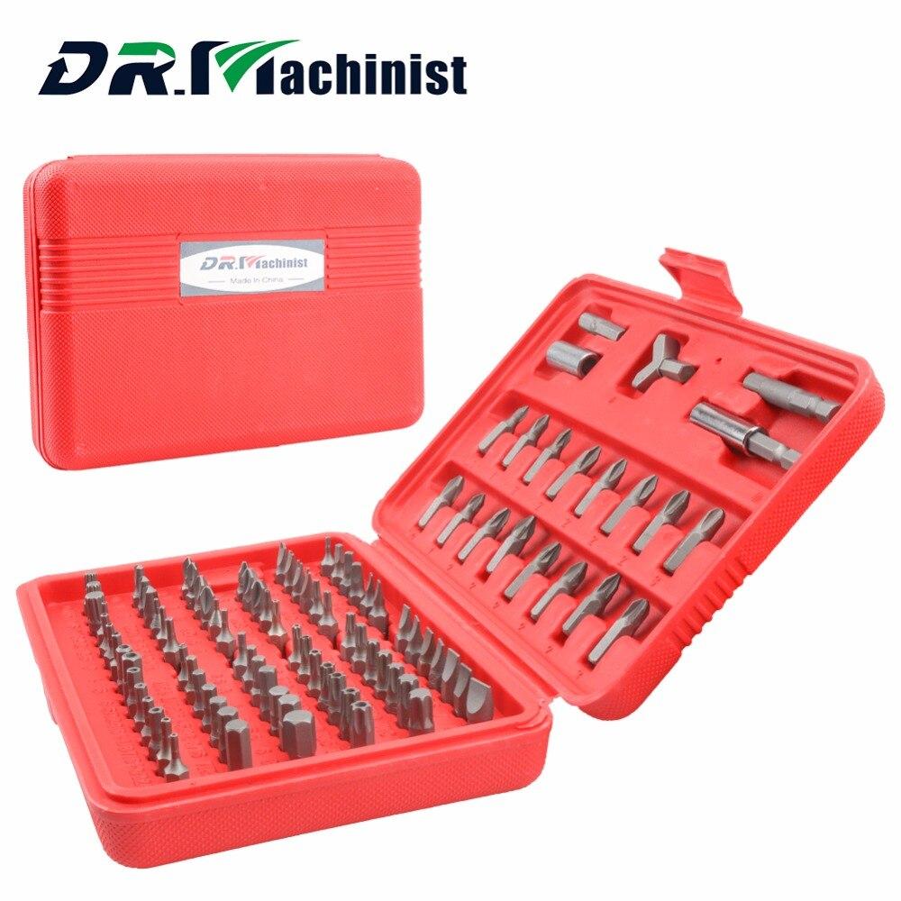 DR. Macchinista 100 Pz Ratchet cacciavite Set Kit Domestici Multifunzione Strumenti di Riparazione Strumento di Manutenzione Elettrica Testa Batch