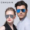 CNHUAIN Polarizada Condução Óculos de Sol Para Mulheres Dos Homens Da Marca dos homens do Desenhador Óculos de Sol Reflexivos oculos lente Plana Fêmea Do Vintage
