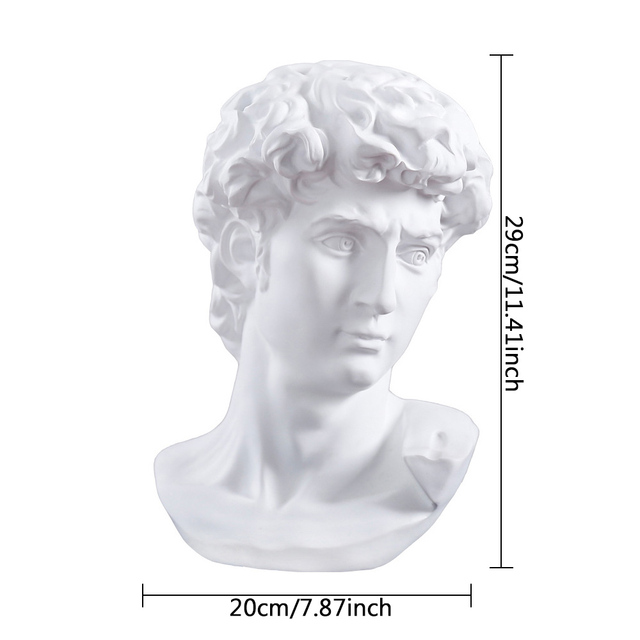 David Head Portraits Bust Mini Gypsum Statue Michelangelo Buonarroti Home Decoration for Resin Art&Craft Sketch Practice 2