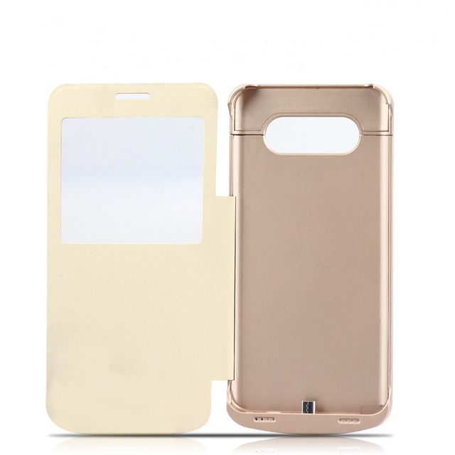 4200mAh Rechargeable External Backup Battery Power Supply Battery Charger Leather Cases For Samsung Galaxy Note 5 Note5 Note3 4