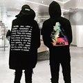 Muito boa qualidade Bordado hoodie com letras de grandes dimensões das mulheres dos homens hoodies hip hop streetwear urbano roupas pretas legal casaco com capuz