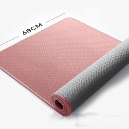 10mm Multifunctional Non-slip Yoga Mat TPE Fitness Sports Yoga Mat Beginner Thicken Edge Covered Yoga Slim Gym Exercise Mats