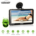 CARCHET 7 inch HD Car GPS Navigation 512MB RAM 8GB 2.4 GHz WIFI 1080P HD DVR with Dash Cam Touchscreen FM GPS Android Europe Map