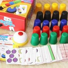 Скоростные чашки карточные игры классические карточные игры семья и детские настольные игры крытые игры с английскими инструкциями