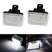 2pcs Xenon White OE Replace LED License Plate Lights For Mazda CX5 CX7 6 Mazdaspeed6