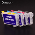 Ocbestjet t2201-t2204 cartucho de tinta recarregáveis para epson wf2650 wf2660 wf2630 xp320 xp420 impressora com chip de permanente