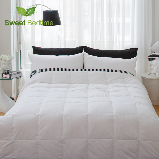 Hotel Twin Queen King Size White Duck Down Feather Comforters Insert Summer Blankets Thin Duvet