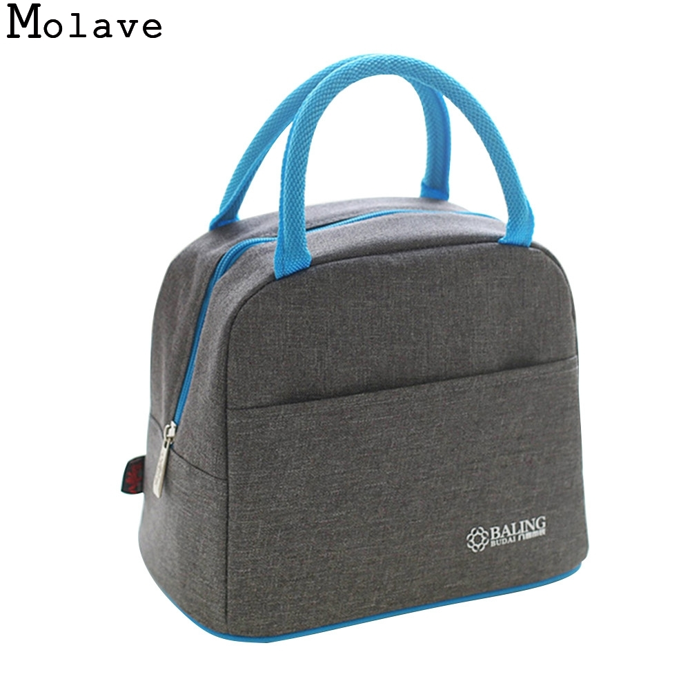 MOLAVE picnic bag Thermal Insulation Cooler Lunch Picnic Bento Box Fresh Keeping Ice Pac ...