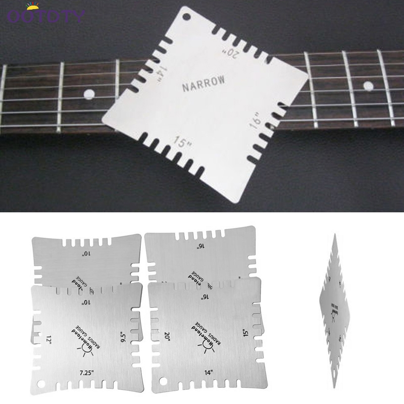 Gauges Adaptable Guitar Notched Radius Gauges Fingerboard Measuring Tools 4pcs For Luthier Non-Ironing Measurement & Analysis Instruments
