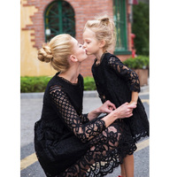 2017 Fashion Mother And Daughter Dresses Lace Dress Girls Clothing Family Matching Outfits Mae E Filha