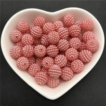 """10 מ""""מ 50 יחידות אקריליק חרוזים Bayberry חרוזים עגול Loose חרוזים Fit אירופה חרוזים עבור תכשיטי ביצוע DIY אביזרים"""