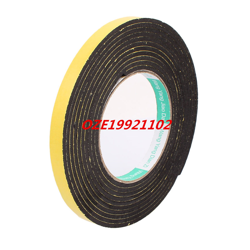 12mm Width Single Side Self Adhesive Shockproof Sponge Foam Tape 4M Length 2pcs 2 5x 1cm single sided self adhesive shockproof sponge foam tape 2m length