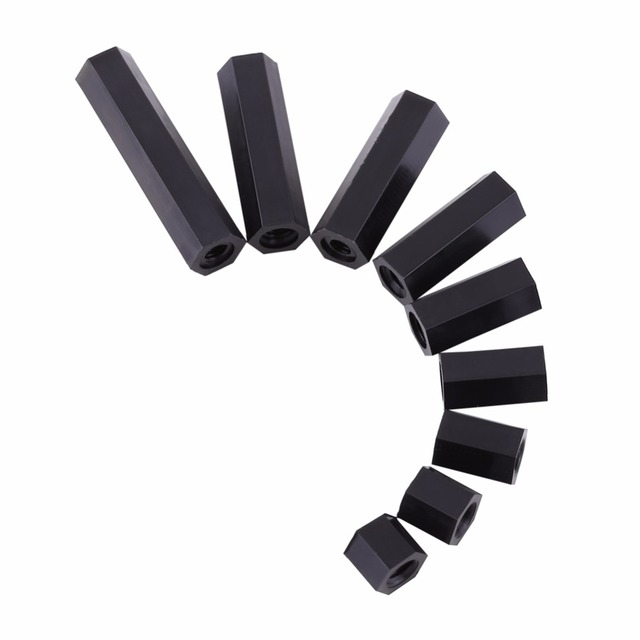 Wholesale 100Pcs/Lot M3 Female x M3 Female Hex Threaded Spacer Standoff PA66 Nylon Standoff For PCB Circuit Boards