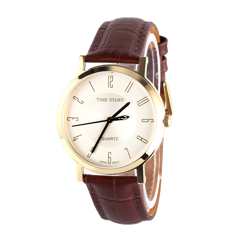Brand Classic Fashion Casual Business Watch Men's Quartz Wrist Watches Leather Strap Waterproof  50M Anti-Clockwise For Option