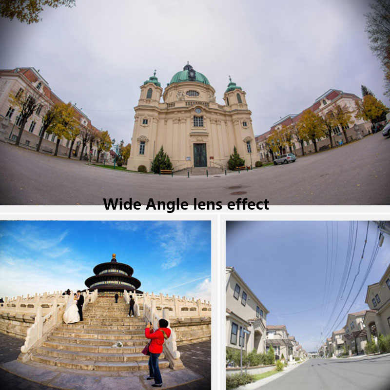 Mini Clip-on Điện Thoại Di Động Máy Ảnh Lens Kit Ống Kính Mắt Cá + 0.67 X Wide Angle + Ống Kính Macro cho Điện Thoại Thông Minh
