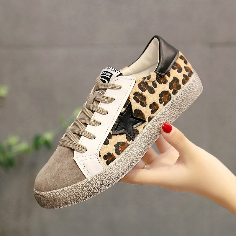 New Women Flat Shoes Lace up Sneakers