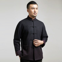 2018 Manufacturers Selling Chinese Wind Favors Improved Shoulder Male Tangzhuang Overcoat Qiu Dong Long Sleeve Blouse, 8703