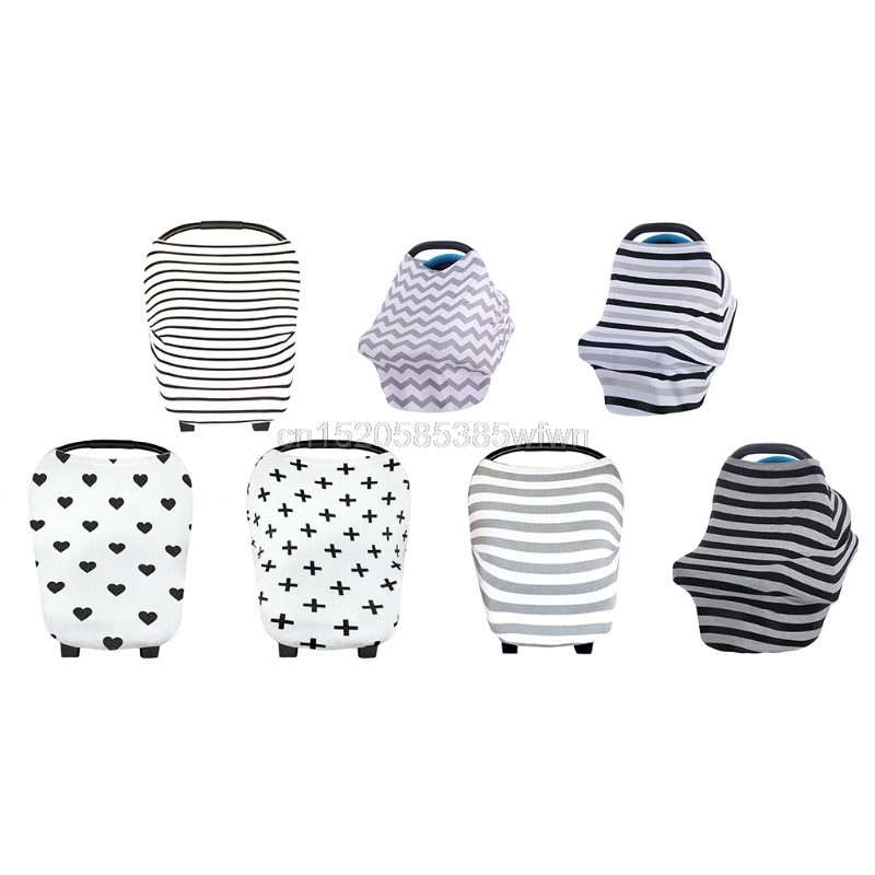 7 Colors Multi-Use Stretchy Newborn Infant Nursing Cover Baby Car Seat Canopy Cart Cap