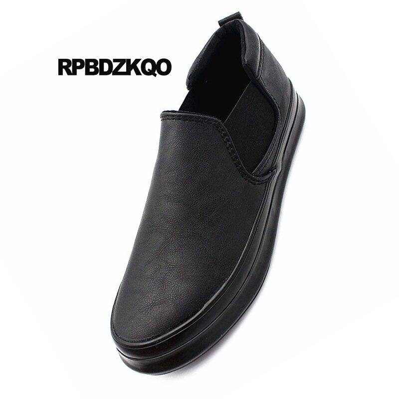Slip Chaussures Noir Solide Haute Hommes Nouvelle gris marron Rond Confort Hiver En Noir ons Top Mode Bout Sur Caoutchouc De Mâle Glissement 2018 Ressort rouge Occasionnels Designer qwRP7xUgw