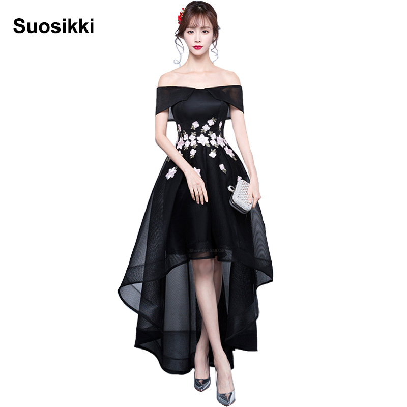Suosikki Hot Sale Elegant short front long back   Evening     Dress   2017 Cheap Formal import occasion   dresses   Robe De Soiree