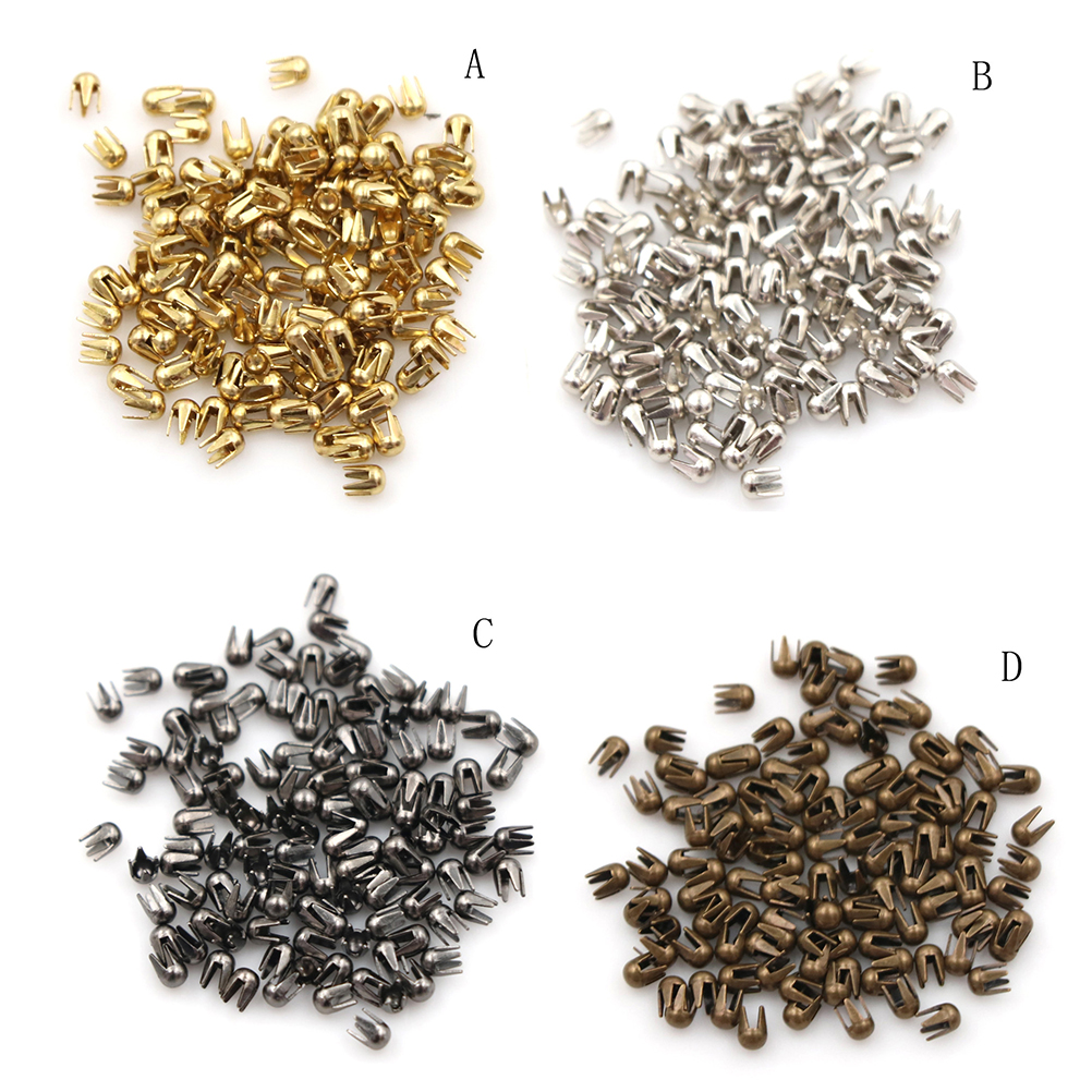 100pcs/lot Mini 2mm Buckle Super Small Mini Round Bead Claw Hammer DIY Doll Clothes Doll Accessories