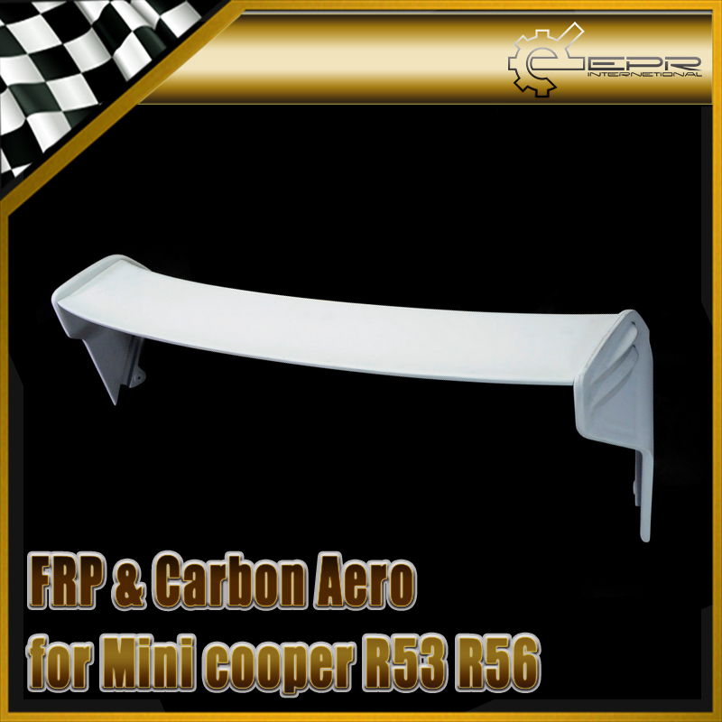 Accessoires de voiture R53 R56 FRP fibre de verre becquet de toit en Fiber de verre JCW aile Kit de carrosserie pour Mini Cooper Ver.2.11/2.12