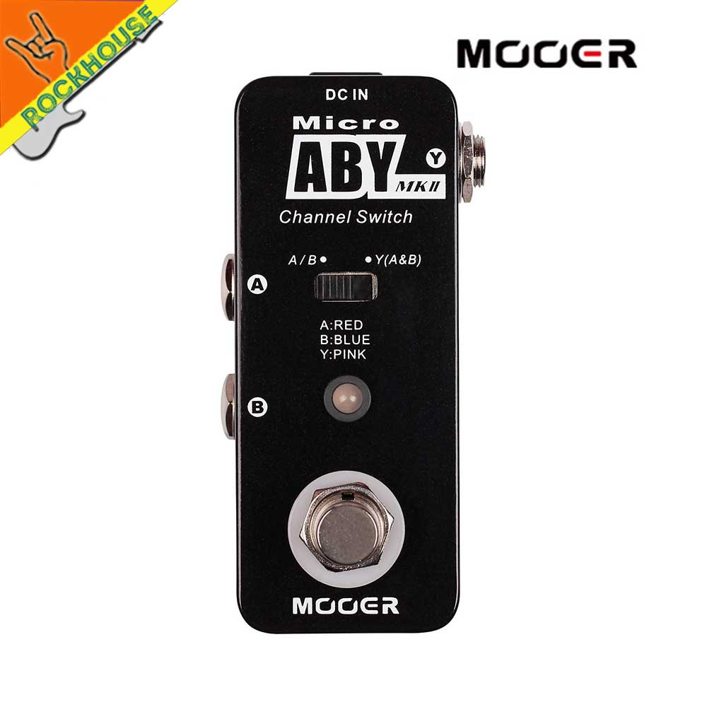 mooer micro aby mk2 guitar line selector pedal amplifier channel switch guitar signal diverter. Black Bedroom Furniture Sets. Home Design Ideas