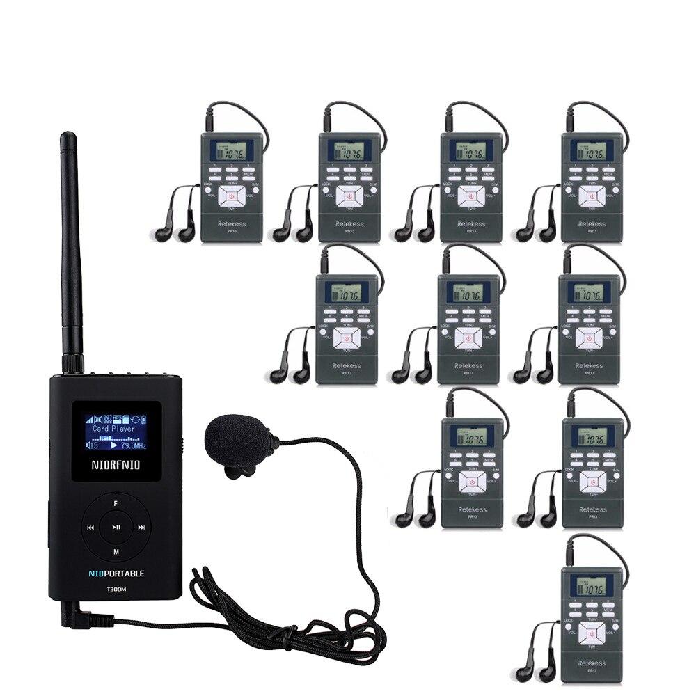 Audio Système guide touristique Sans Fil 76-108 MHz Système Interprétation la Traduction Simultanée Pour Conférence Agence de Voyage