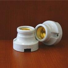 2pcs E27 Lamp Socket Screw Mouth Ceramic Bases High Temperature Bulb Base Climbing Box Fitting 6A250V
