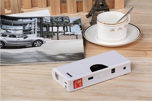 Banco de energía de emergencia del coche Fire Maker Smart 12V li-polymer 10000mAh automóvil motocicleta Jump Leads batería Starter con USB