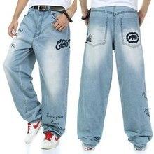 Большой размер 30 — 46 ( талия 116 см ) высокого класса вышивка Большой размер мужской одежды брюки большой размер тенденции скейтборд хип-хоп джинсы