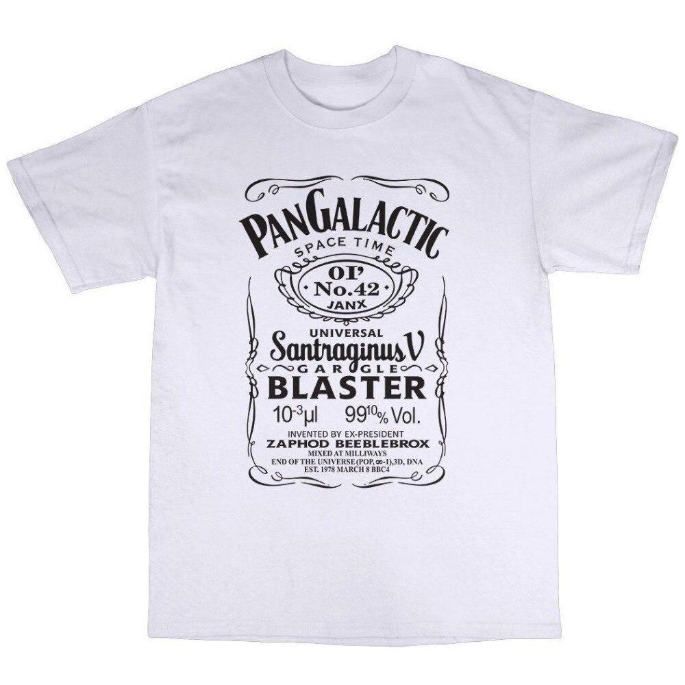 2018 Fashion casual streetwear Pan Galactic Gargle Blaster T-Shirt 100% Premium Cotton Douglas Adams High Quality Top Tees