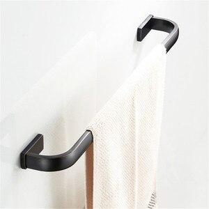 Лейден одно Полотенце бар масло втирают бронзовая отделка Твердый латунный держатель полотенца Вешалка для ванной комнаты Аксессуары одно...