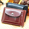 2015 Hot Selling Mini Money Clip Fashion Men Wallets Male Purse Men Leather Wallet Brown Black