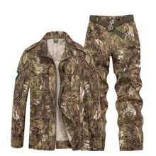 Outdoor Sport Hunting Clothes Camouflage Suits Tactical Shirt+Combat Cargo Pants Uniforme Militar Military Uniforms Ghillie Suit(China)