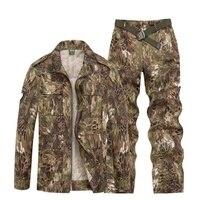 Outdoor Sport Hunting Clothes Camouflage Suits Tactical Shirt+Combat Cargo Pants Uniforme Militar Military Uniforms Ghillie Suit