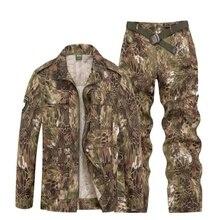 Спорт на открытом воздухе Охота Одежда камуфляж костюмы Тактический рубашка + боевой штаны-карго Uniforme Militar Военная Униформа Ghillie костюм