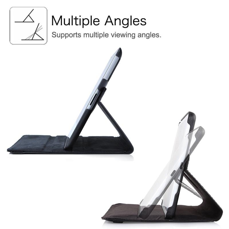 360 graders roterande stativfodral till iPad Mini 1 2 3 Väska PU - Surfplatta tillbehör - Foto 3