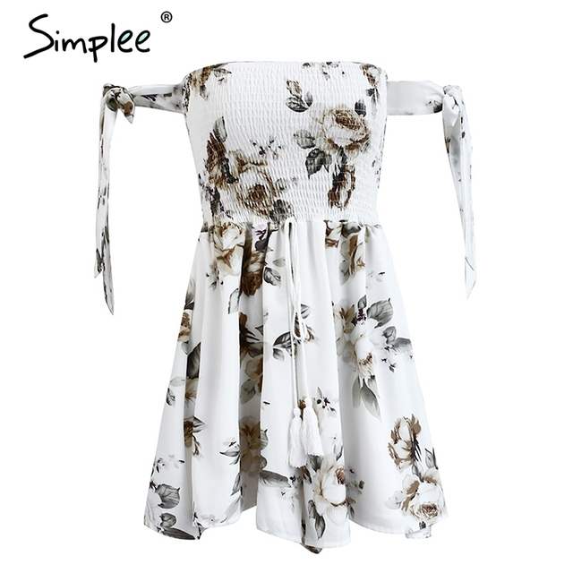 Simplee Backless flower print jumpsuit romper women Elastic drawstring special sleeve playsuit Summer beach party short overalls