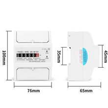 Single Phase Two Wire Power Consumption Watt Energy Meter kWh 30(100)A 230V AC 50Hz Wattmeter Household Electric Din Rail Mount