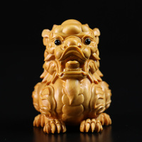 Chinese Dragon animal Kylin wood pi xiu sculpture statue Zodiac room decoration lucky dragon decor home decoration accessories