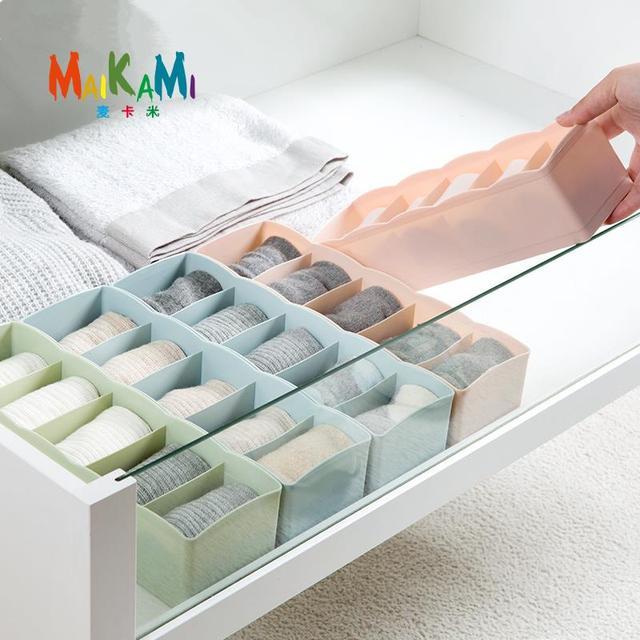 maikami hei er verkauf kunststoff aufbewahrungsbox beh lter drawer divider mit deckel schrank. Black Bedroom Furniture Sets. Home Design Ideas