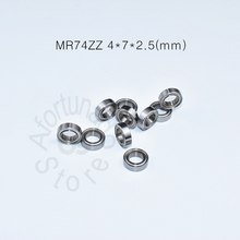 цены MR74ZZ bearing 10pcs Metal Sealed Miniature Mini Bearing Free shipping MR74 MR74ZZ 4*7*2.5mm chrome steel deep groove bearing