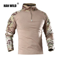 HAN WILD Outdoor Tactical T-shirt Men Combat Shirt Airsoft Paintball Tactical Military Army Shirts Uniform Hiking Hunting Shirt