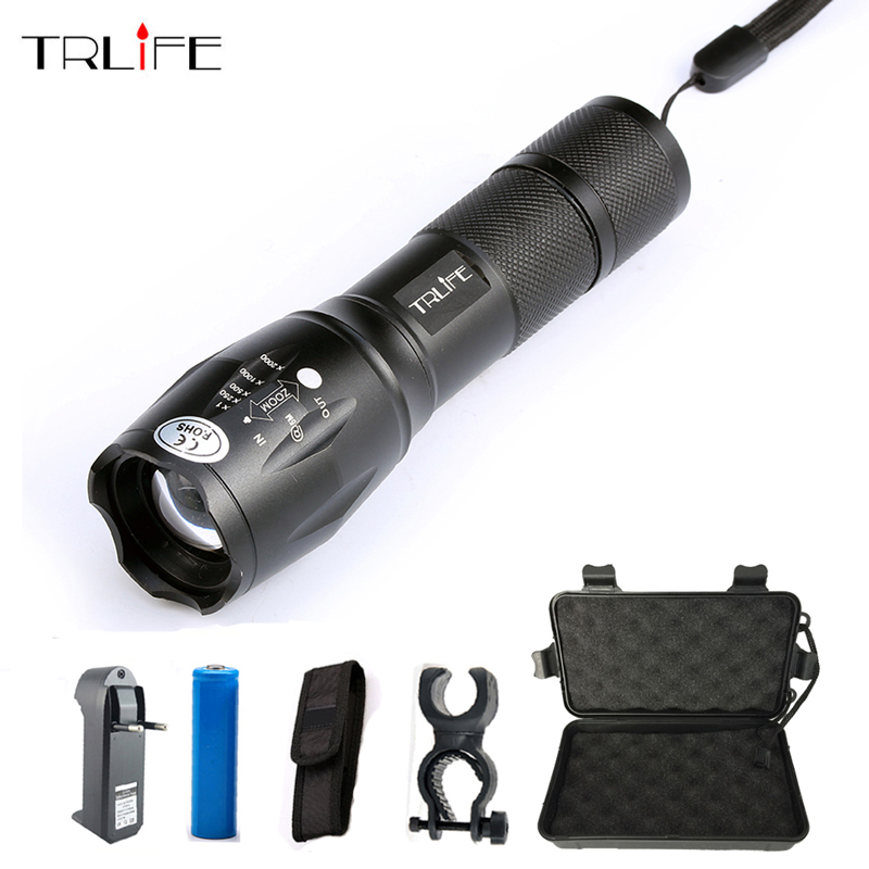 High Quality Professional 5 modes Zoomable T6 L2 LED